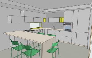 Virtuvės 3D vizualizacija