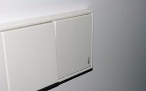 JUNG aklė su atspausdintu termometro simboliu